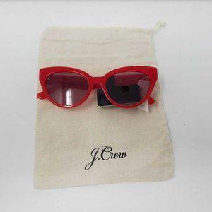 New womens J Crew red cat eye sunglasses